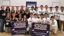Boys and Girls Varsity Squash Teams Become National Champions